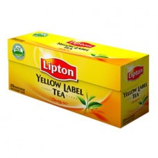 Чай Lipton Yellow Label чёрный, 25 пак